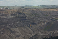 Coal mining  in the open way Royalty Free Stock Photography