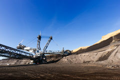 Coal mining pit Royalty Free Stock Photos