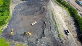 Coal Mining Aerial Borneo Indonesia stock image