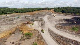 Coal Mining Aerial Borneo Indonesia stock video footage