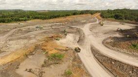 Coal Mining Aerial Borneo Indonesia stock video
