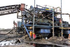 Coal Mining and processing Plant Equipment stock image