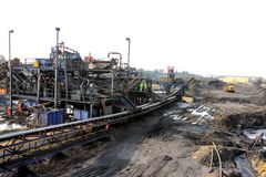 Coal Mining and processing Plant Equipment royalty free stock photos