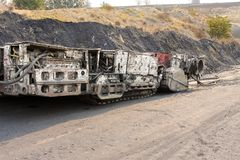 Coal Mining and processing Plant Equipment stock photo