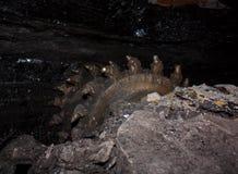 Coal mining shearer. Ukraine, Donetsk Royalty Free Stock Photography