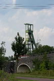 Coal mining tower royalty free stock photo