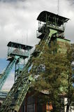 Coal mining towers Royalty Free Stock Photo
