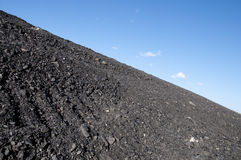 Coal mining waste pile Stock Images
