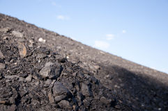 Coal mining waste pile Royalty Free Stock Photo