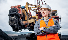Coal mining worker Stock Image