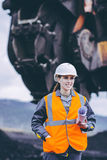 Coal mining worker Royalty Free Stock Photo