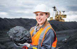 Coal mining worker Royalty Free Stock Image