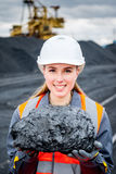 Coal mining worker Royalty Free Stock Photography