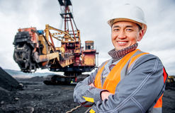 Coal mining worker Stock Image