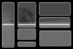 Coal moon Stock Images