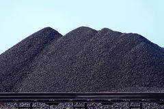Coal mountains Stock Image