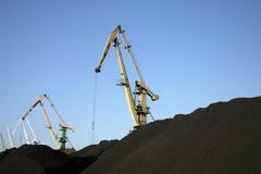 Coal mountains Royalty Free Stock Image