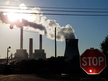 Stop Coal and Nuclear power plants Royalty Free Stock Photos