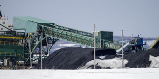 Coal offload Royalty Free Stock Image