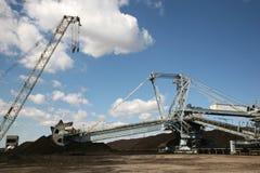 Coal output machine. Power station coal output machine Royalty Free Stock Photos