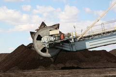 Coal output machine. Power station coal output machine stock images