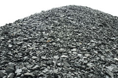 Coal pile Royalty Free Stock Photos