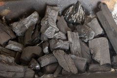 Coal piled off Royalty Free Stock Image