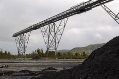 The coal piles up Royalty Free Stock Photos