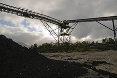 The coal piles up Stock Photo