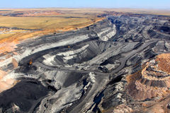 Coal pit. Pit on coal mining by open way Royalty Free Stock Images