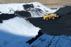 Coal-pit do inverno imagens de stock