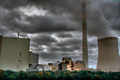 Coal Plant. Power plant under a cloudy sky stock photos