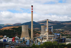 Coal Plant In Spain. Stock Photos