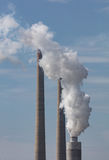 Coal Plant Smokestack Royalty Free Stock Photography