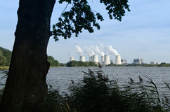 Coal power plant Royalty Free Stock Photography