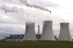Coal power plant Royalty Free Stock Images