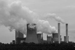 Coal power plant in black and white Stock Photography