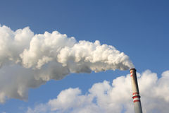 Coal power plant chimney Stock Photo