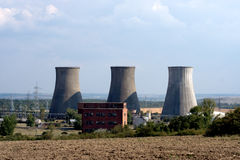 Coal power plant chimneys Royalty Free Stock Images