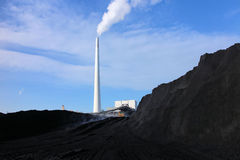 Coal and power plant Stock Photo