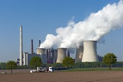 Coal Power Plant Neurath I Royalty Free Stock Image