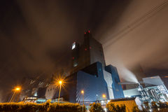 Coal power plant in the night Stock Photos