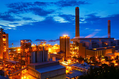 Coal power station and cement plant Stock Photos