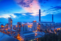 Coal power station and cement plant Royalty Free Stock Photos