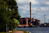 Coal Power Station Panorama Royalty Free Stock Image