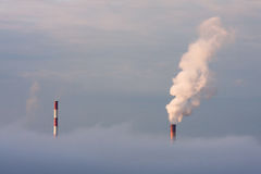 Coal power stations Royalty Free Stock Photo