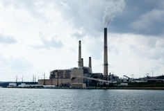 Coal powered electricity generating Royalty Free Stock Photo