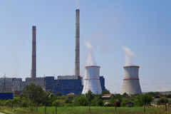 Coal powered power plant Royalty Free Stock Photography