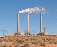 Coal powered power plant Stock Photo