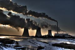 Coal powerplant Stock Photography